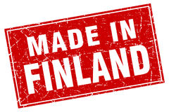 Finland red grunge made in stamp. Finland red square grunge made in stamp Royalty Free Stock Photography