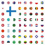 Finland round flag icon. Round World Flags Vector illustration Icons Set. Finland round flag icon. Round World Flags Vector illustration Icons Set Royalty Free Stock Photography