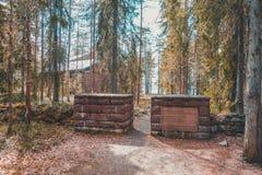 Finland Rovaniemi, begraafplaatsmonument voor de Duitse militairen in wereldoorlog 2 Stock Foto