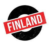 Finland rubber stamp. Grunge design with dust scratches. Effects can be easily removed for a clean, crisp look. Color is easily changed Stock Photography