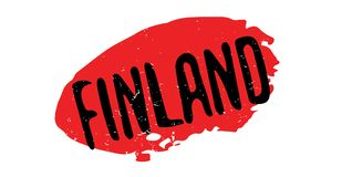 Finland rubber stamp. Grunge design with dust scratches. Effects can be easily removed for a clean, crisp look. Color is easily changed Royalty Free Stock Photo