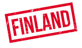 Finland rubber stamp. On white. Print, impress overprint Stock Images
