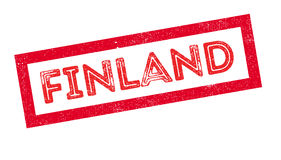 Finland rubber stamp. On white. Print, impress overprint Stock Photos