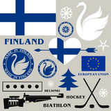 Finland. Set. Isolated objects. Vector illustration (EPS 10 Royalty Free Stock Photo