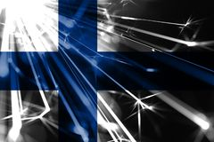 Finland shining fireworks sparkling flag. New Year 2019 and Christmas futuristic shiny party concept flag. Finland shining fireworks sparkling flag. New Year vector illustration