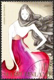 FINLAND - 2009: shows dress by Jasmin Santanen, series finnish fashion Royalty Free Stock Image