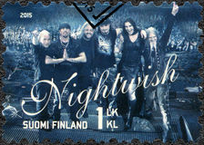 FINLAND - 2015: shows Nightwish, series Six internationally successful Finnish rock bands Royalty Free Stock Photos