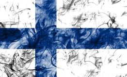 Finland smoke flag on a white background.  Royalty Free Stock Photography