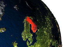 Finland from space Stock Images