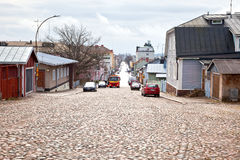 finland Stad Porvoo Stock Foto's