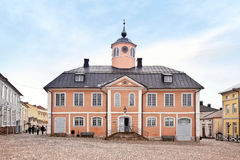 finland Stad Porvoo Stadhuis Royalty-vrije Stock Fotografie