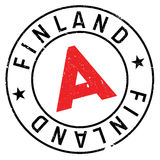 Finland stamp rubber grunge Royalty Free Stock Photography