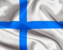 Finland statflagga royaltyfri illustrationer