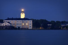 Finland: Summer midnight in Helsinki Royalty Free Stock Image