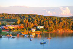 Finland. Sunset near Turku Royalty Free Stock Photography