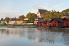 Finland.  Sunset in Porvoo Stock Photography