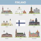 Finland. Symbols of cities Royalty Free Stock Image
