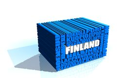 Finland tags cloud Royalty Free Stock Images