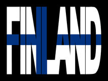 Finland text with flag Royalty Free Stock Photo