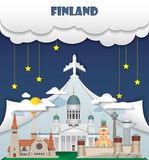 Finland travel background Landmark Global Travel And Journey Infographic Vector Design Template. illustration.  Royalty Free Stock Photos