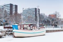 finland turku Skepprestaurang Arkivfoton