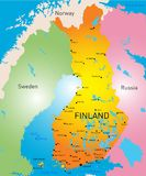 Finland. Vector color map of Finland country Royalty Free Stock Images