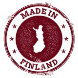 Finland vector seal. Vintage country map stamp. Grunge rubber stamp with Made in Finland text and map, vector illustration Royalty Free Stock Image
