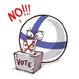 Finland voting NO. Countryballs logo vector illustration