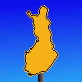 Finland warning sign Stock Photography