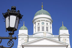 Finland: White Cathedral of Helsinki Royalty Free Stock Images