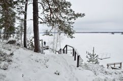 Finland  in winter Royalty Free Stock Photos