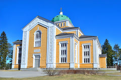 Finland. Wooden Church in Kerimaki. Kerimaki, Eastern Finland. The biggest wooden church in Scandinavia royalty free stock photo