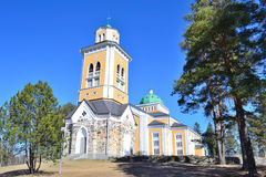 Finland. Wooden Church in Kerimaki. Kerimaki, Eastern Finland. The biggest wooden church in Scandinavia royalty free stock image