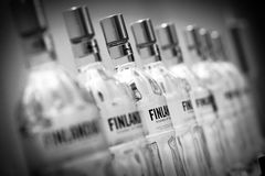 Finlandia bottles Royalty Free Stock Photo