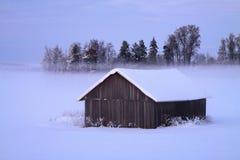 Finlandia: Campo congelado Foto de archivo