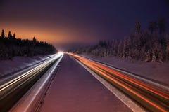Finlandia: Carretera norteña Fotos de archivo libres de regalías