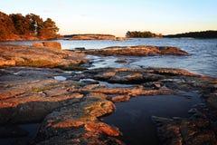 Finlandia: Costa del mar Báltico Foto de archivo libre de regalías