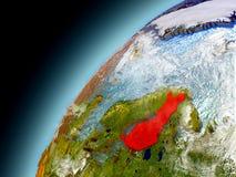 Finlandia de la órbita de Earth modelo Fotos de archivo