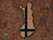 finlandia flagi mapa Obrazy Royalty Free