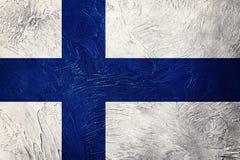 finlandia grunge flagę Finlandia flaga z grunge teksturą Zdjęcia Stock