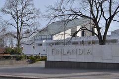 Finlandia Hall Helsinki Finland.. Congrees and event venue Finlandia Hall in Helsinki Finland.  Designed by architect Alvar Aalto Royalty Free Stock Images