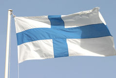 finlandia jest flaga Obraz Royalty Free