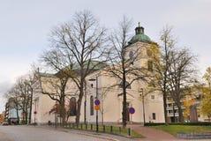 Finlandia. Kościół w miasteczku Hameenlinna Zdjęcie Royalty Free