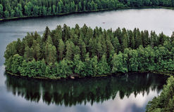 Finlandia krajobraz Fotografia Stock