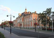 Finlandia, Kuopio: Urząd Miasta Fotografia Royalty Free