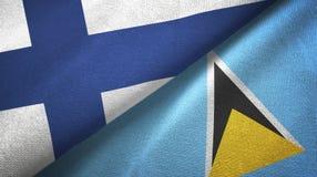 Finlandia Lucia i święty dwa flagi tekstylny płótno, tkaniny tekstura royalty ilustracja