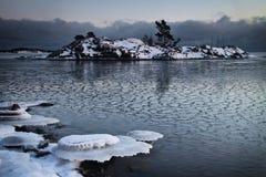 Finlandia: Mar congelado Foto de Stock Royalty Free