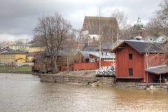 Finlandia Miasto Porvoo Obraz Royalty Free