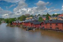 Finlandia Porvoo miasteczka rzeka Zdjęcie Royalty Free