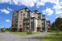 Finlandia Savonia, Kuopio,/: Nowożytny budynek mieszkaniowy (2014) Fotografia Stock